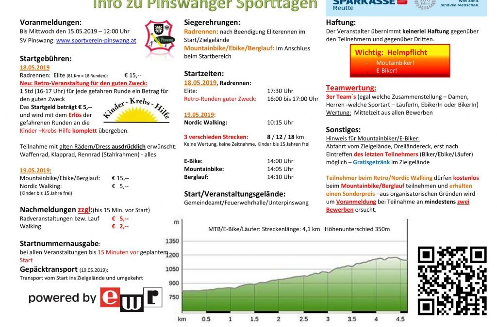 Infos & Anmeldung zu den Pinswanger Sporttagen 2019